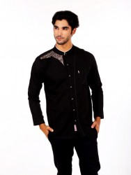 BAJU KOKO FURSAN PANTHER BLACK LONG 1