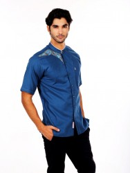 BAJU KOKO FURSAN PANTHER BLUE SHORT