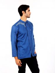 BAJU KOKO FURSAN PANTHER BLUE LONG